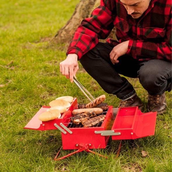 Portable BBQ toolbox