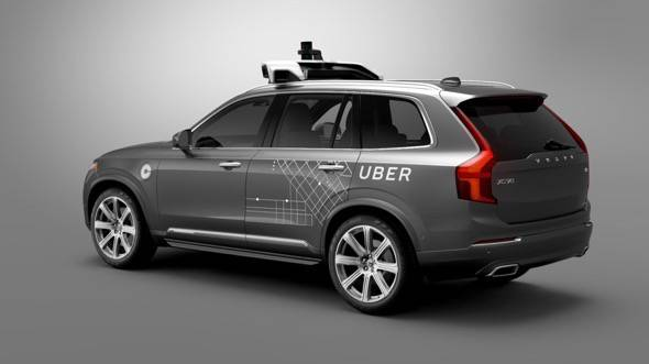Uber Volvo XC90 Self Driving Car