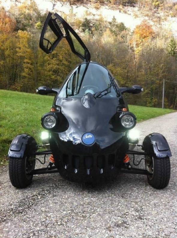 Black SAM Electric Vehicle