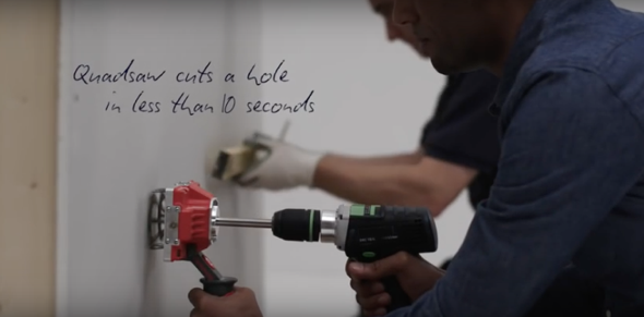 how to cut a square hole