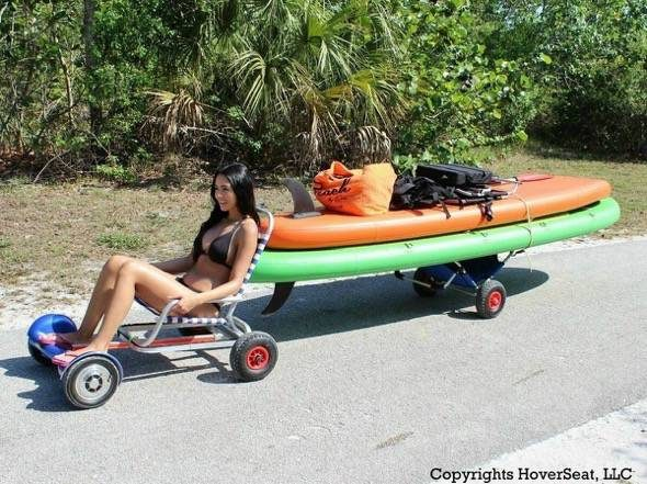 HoverSeat Hoverboard Chair Conversion Kit Towing Boats