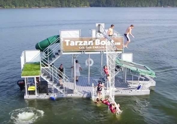 Tarzan Boat Trampoline Jump
