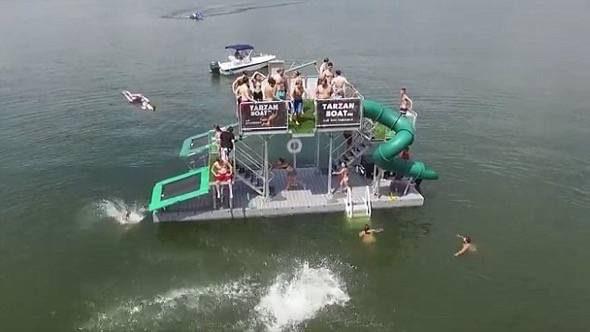 Tarzan Boat Water Slide