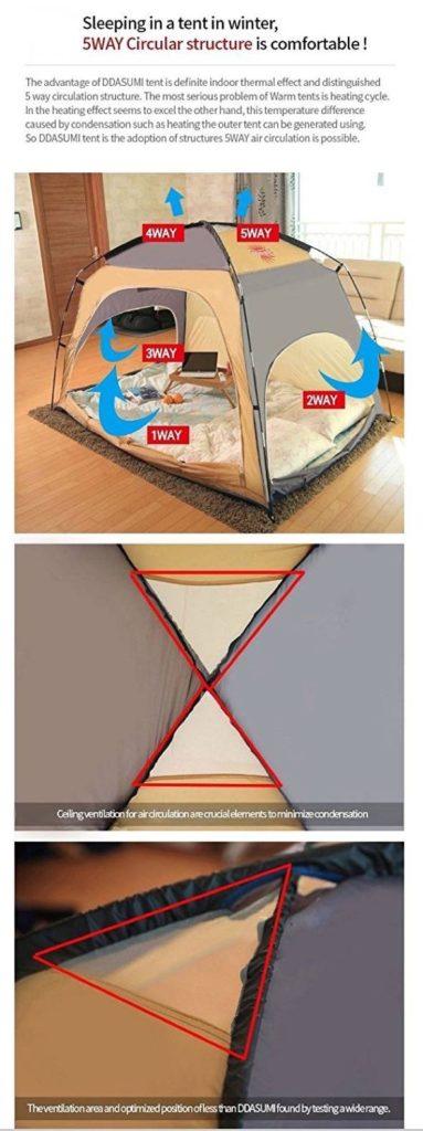 DDASUMI Bed Tent Warm
