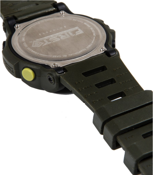 First Tactical Canyon Digital Compass Watch Back and Stealth Button