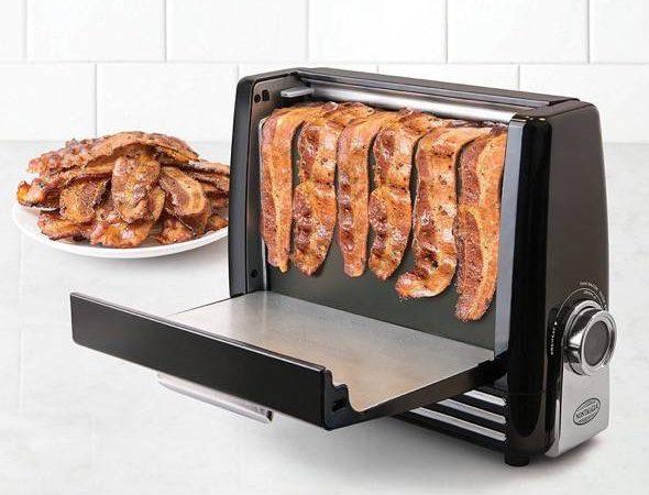 Nostalgia BCN6BK Bacon Express Crispy Bacon Grill Cooking