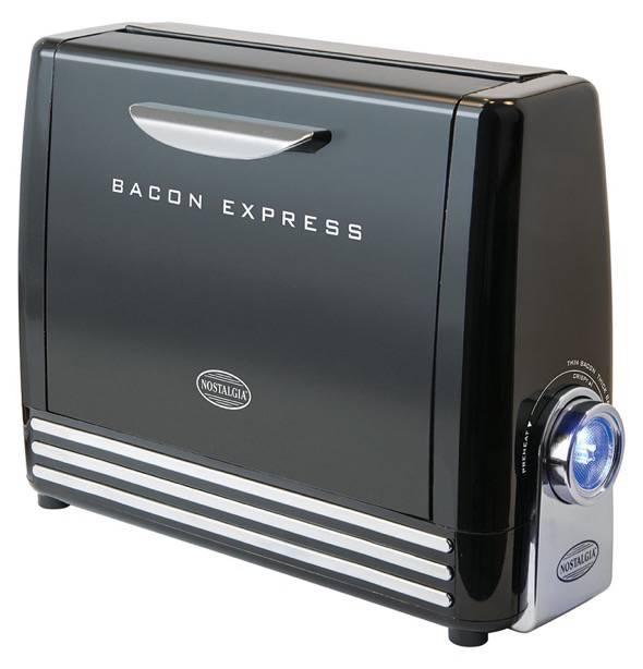Nostalgia BCN6BK Bacon Express Crispy Bacon Grill Toaster