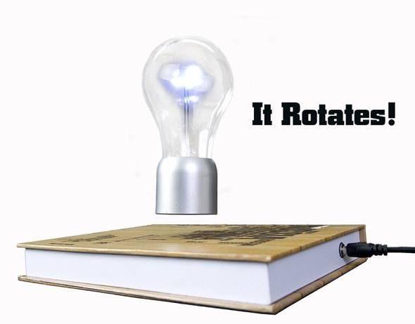 SpaceB Levitating Light Bulb Lamp Rotates