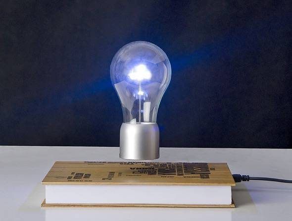 SpaceB Levitating Light Bulb Lamp With Book