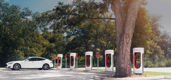 Tesla Supercharger Station
