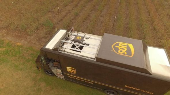 UPS Truck Drone Package Delivery System 3