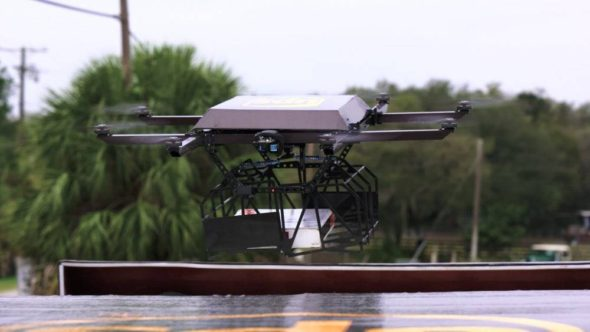 UPS Truck Drone Package Delivery System 4