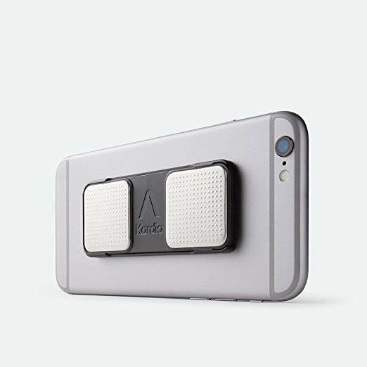 Kardia Portable EKG on back of phone