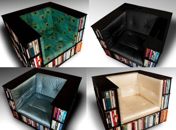 Bookcase luxury chair