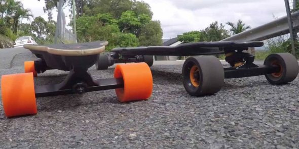 Boosted Boards Dual Extended Vs Evolve Skateboards Carbon