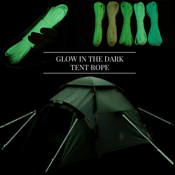 Glow in the dark tent rope