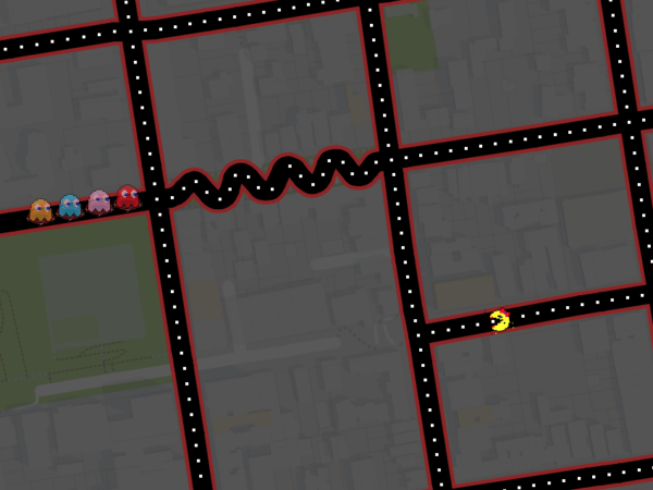 Google Maps Ms. Pac-Man