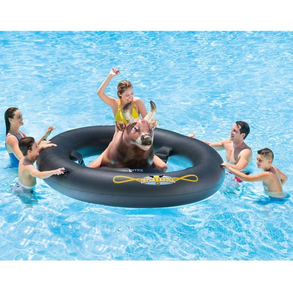 Inflat-A-Bull Bull Riding Pool Float Rodeo