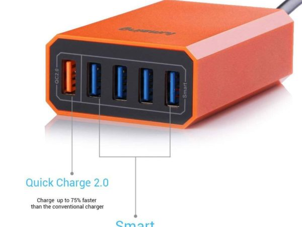 Lumsing Quick Charger Smart USB Charger 5-Port 2