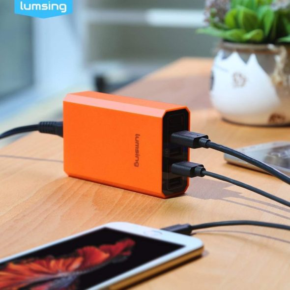 Lumsing Quick Charger Smart USB Charger 5-Port 3