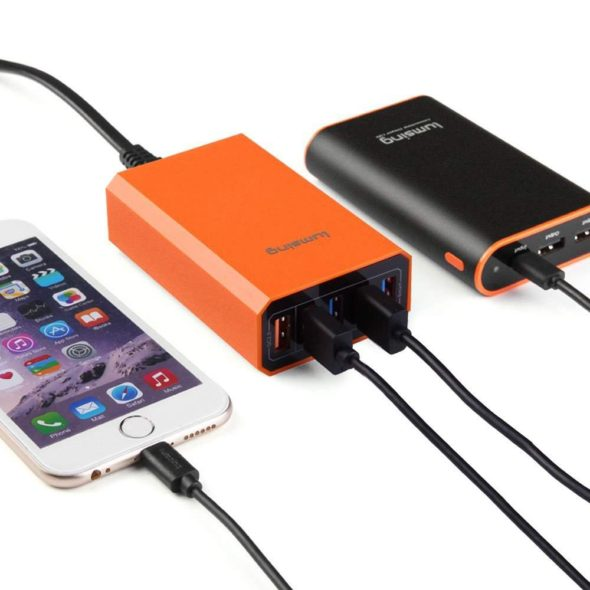 Lumsing Quick Charger Smart USB Charger 5-Port iPhone