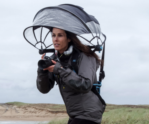 Nubrella Backpack Style Hands Free Umbrella Gadgetking Com