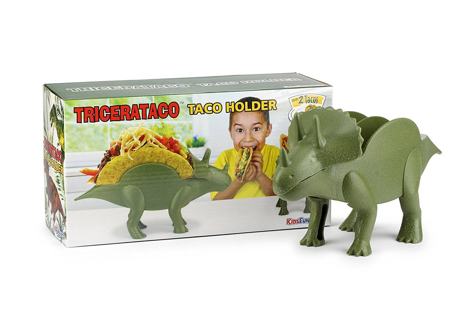 TriceraTaco Taco Holder Dinosaur Packaging
