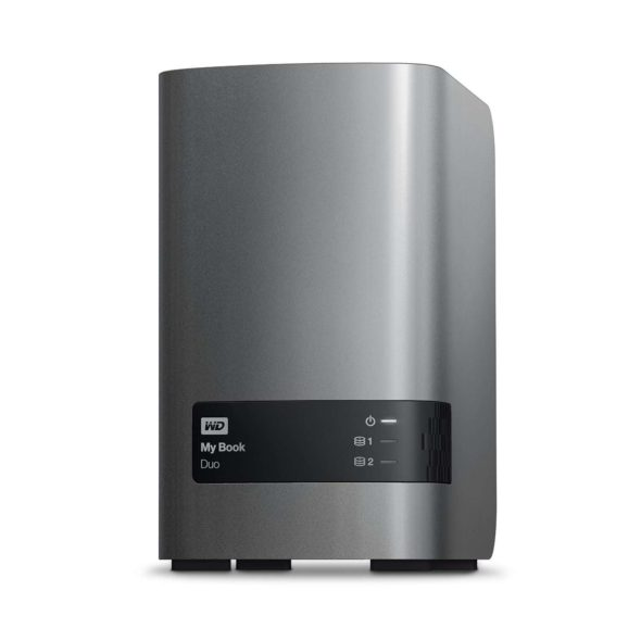 WD 16TB My Book Duo Desktop RAID External Hard Drive Front Angle