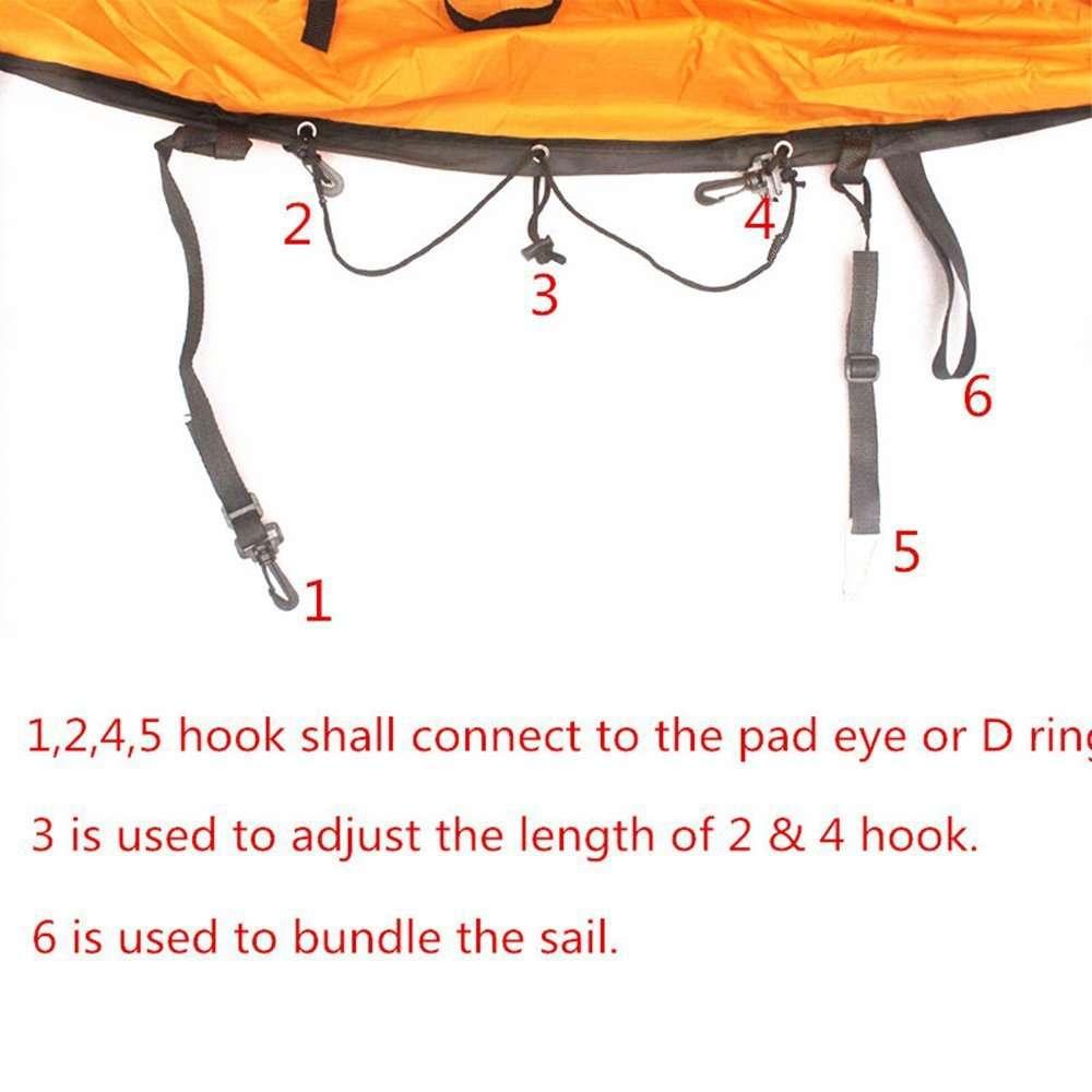Downwind Paddle Kayak Wind Sail Kit 6