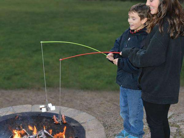 FireBuggz Roasting Fishing Pole Cooking