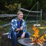 FireBuggz Roasting Fishing Pole Fire Cooking