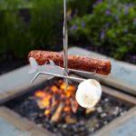 FireBuggz Roasting Fishing Pole Hotdogs