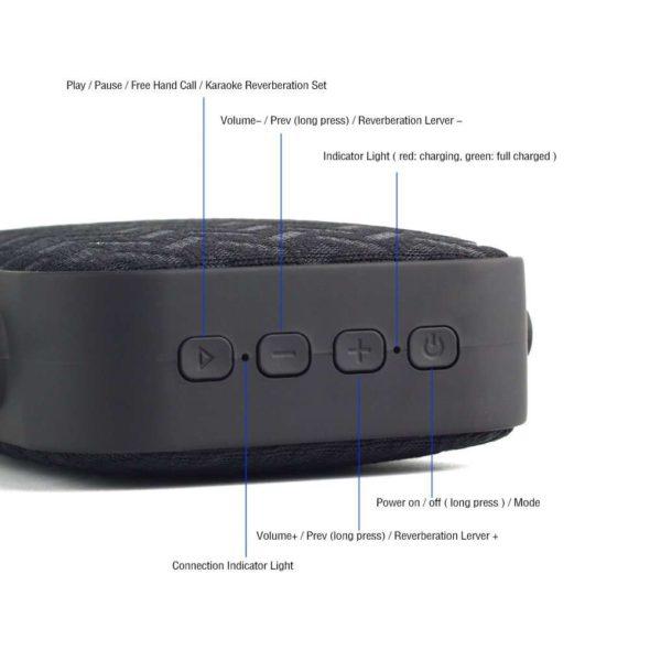 Reacher Portable Karaoke Machine Buttons
