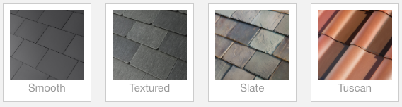 Tesla Solar Roof Panel Options