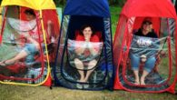 Under The Weather Sports Pod Clear Rain Tent