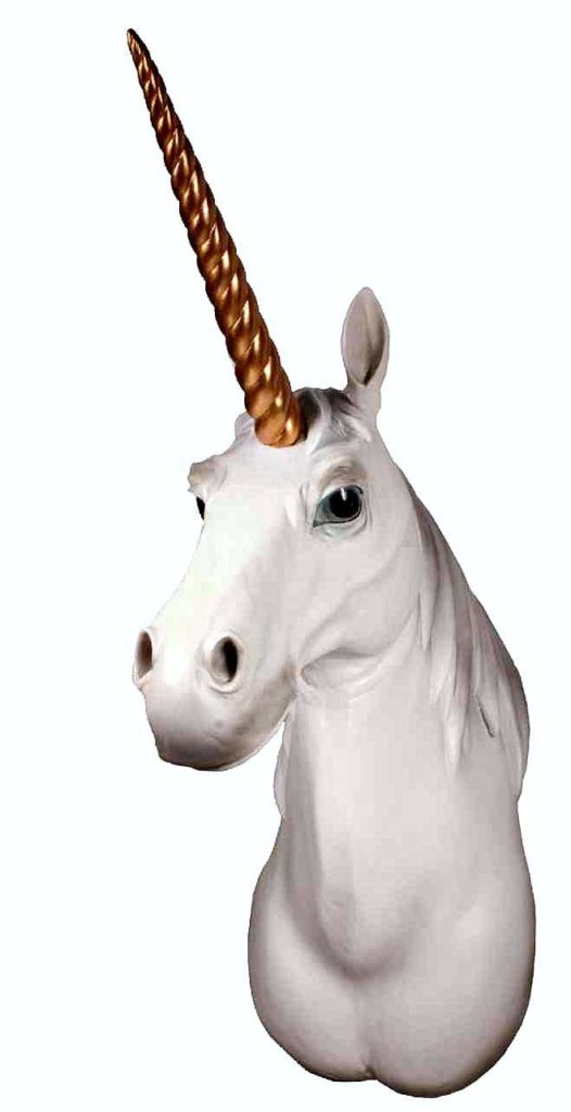 Unicorn Head Wall Mount 1