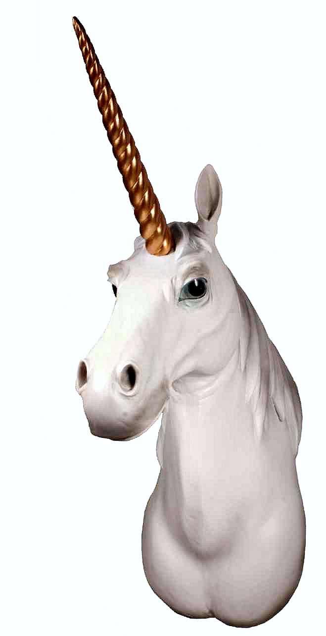 Unicorn Head Wall Mount 1