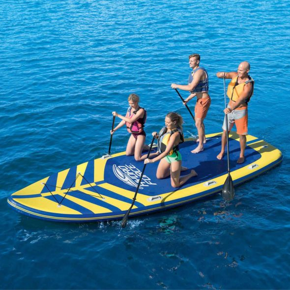 Huge Stand Up Paddle Board Holds 8 People Gadgetking Com