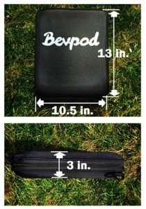 Bevpod Slim Cooler Holds 10 Cans Gadgetking Com