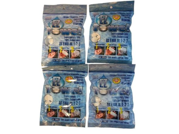 Compressed Coin Towel Tissue Packaging
