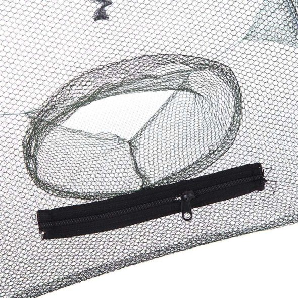 Folding Portable Fishing Net Trap Holes
