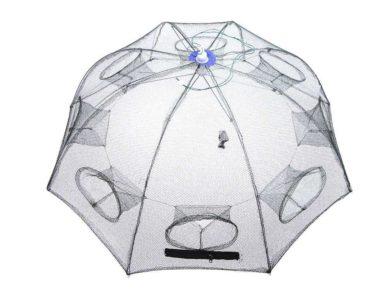 Folding Portable Fishing Net Trap Opened