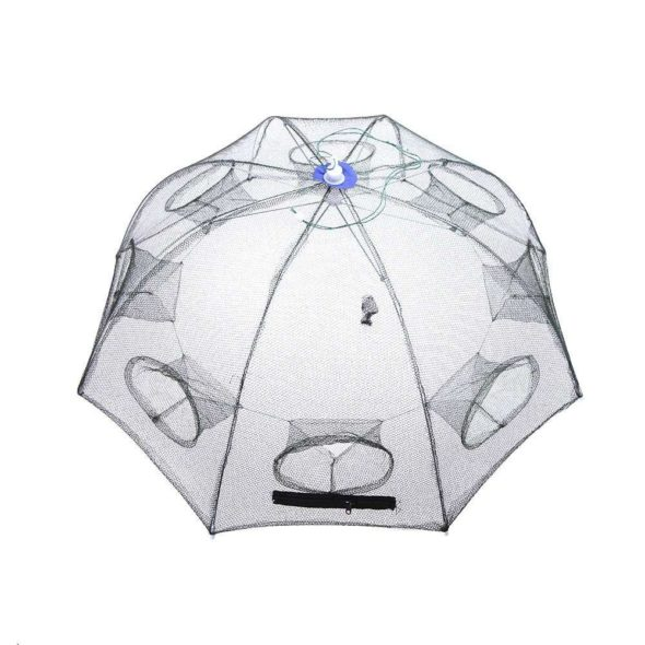 Folding Portable Fishing Net Trap Opened