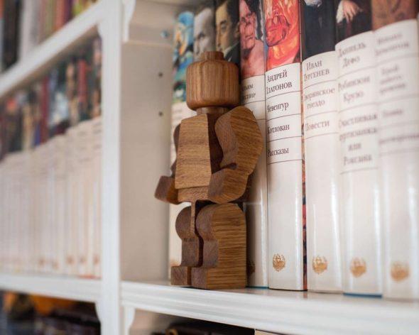 Handmade Wooden Lego Man 1