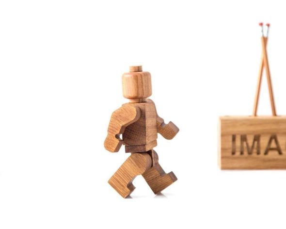 Handmade Wooden Lego Man 3