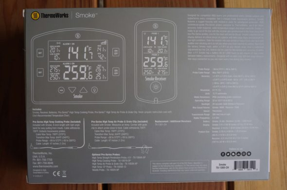 ThermoWorks Smoke TX-1300-CH Rear Packaging