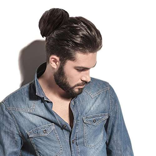 clip on man bun any color