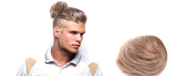 clip on man bun blonde