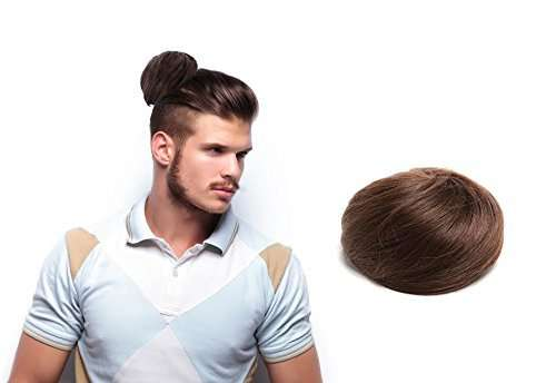 clip on man bun fake hair
