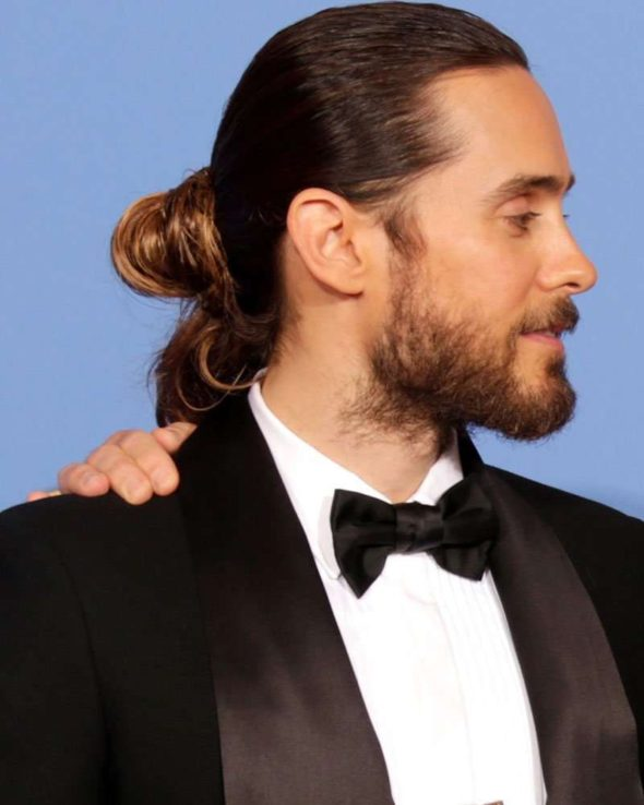 clip on man bun oscars